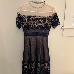 Endless Rose navy and beige dress